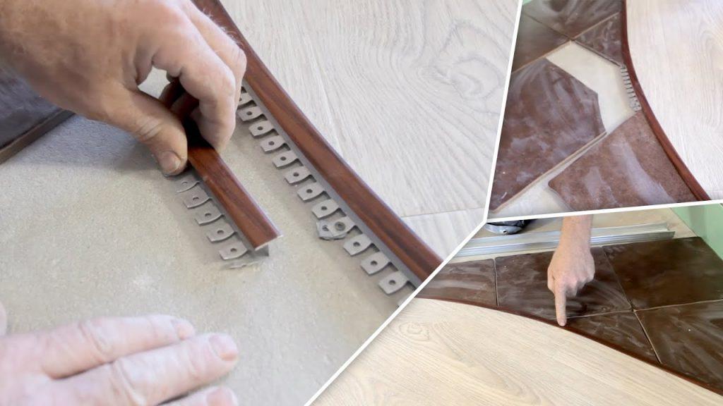 Стыковочный профиль для плитки и ламината