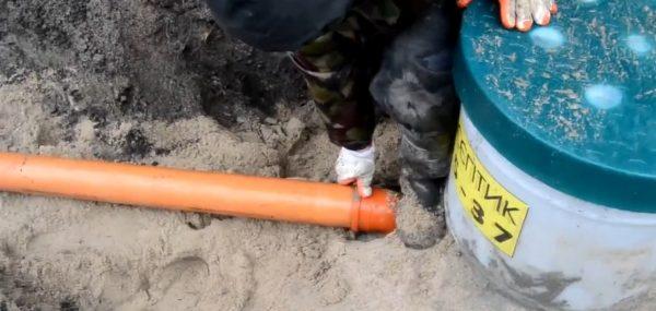 Подводка канализации
