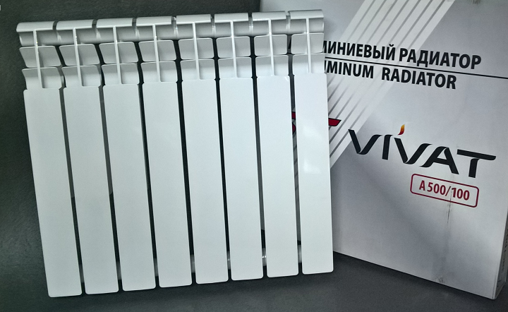 Внешний вид алюминиевого радиатора