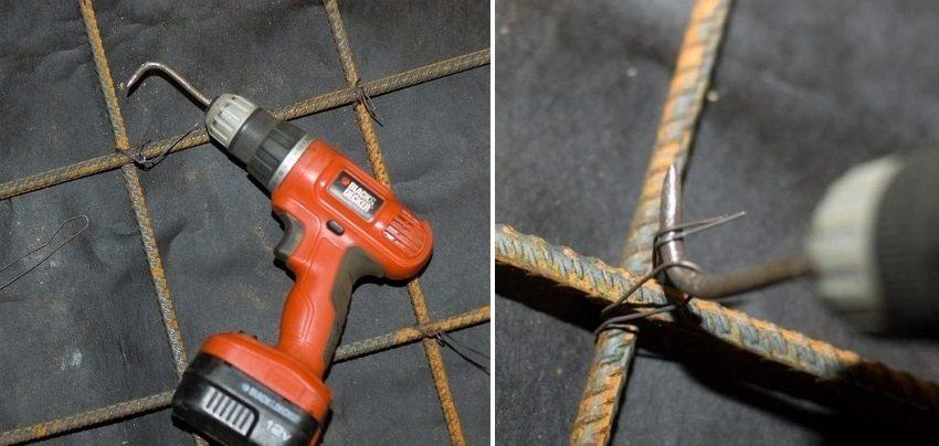 Крючок из шуруповерта для вязки арматуры