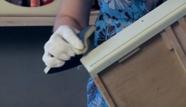 Повторная обработка наждачной бумагой