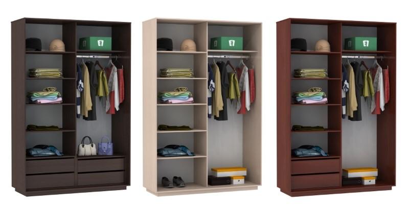 Примеры шкафов с ящиками и без