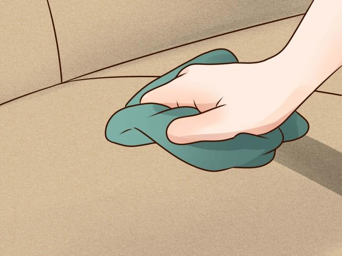 Протирать очищенный участок нужно до полного исчезновения запаха