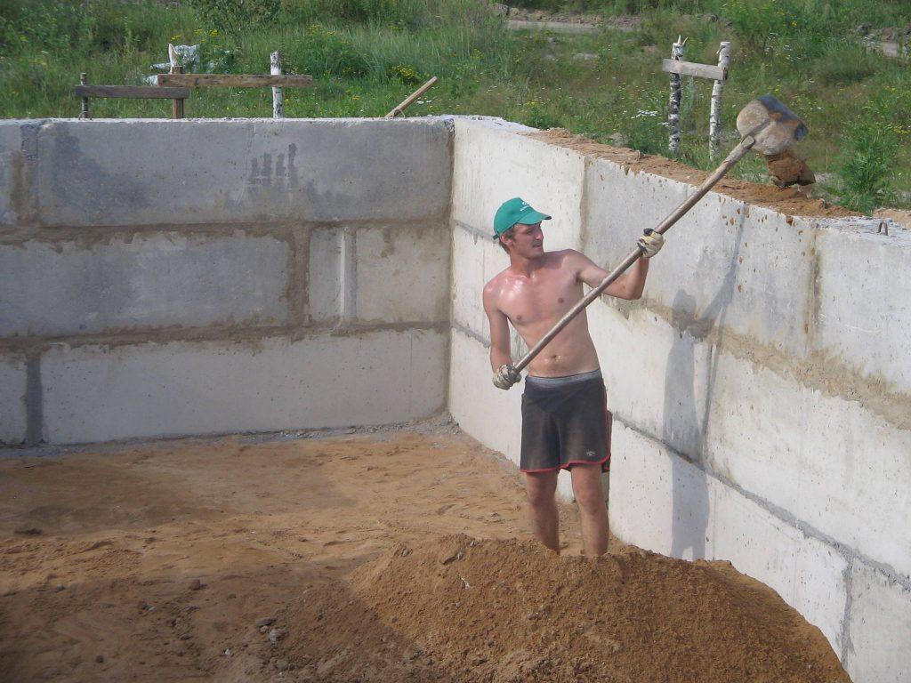 Фундамент из готовых блоков