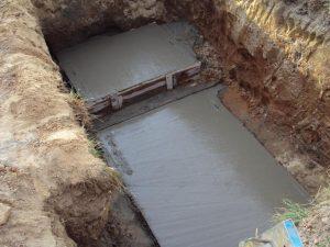 Шаг 3 – заливка подстилающего слоя из бетона
