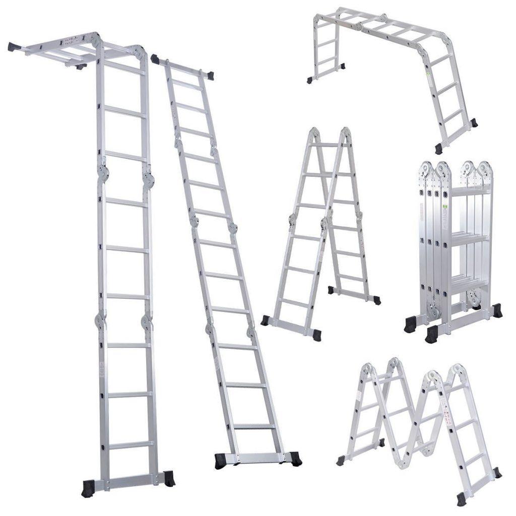 Варианты положения секций лестницы-трансформера