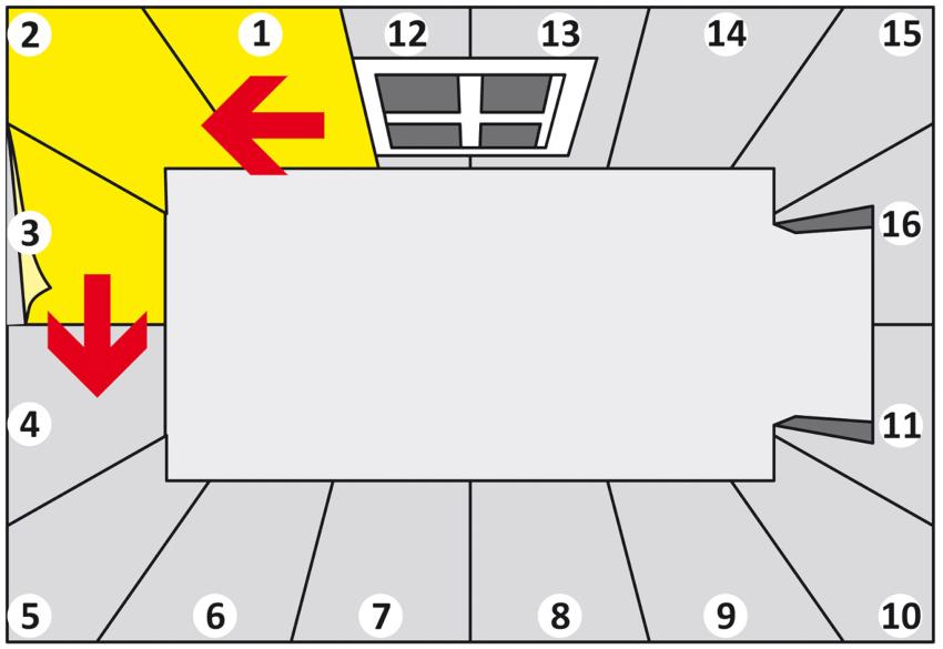 Методика отделки обоями от окна подразумевает оклеивание против часовой стрелки