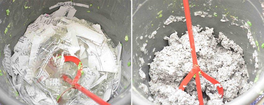 Приготовление жидких обоев из бумаги