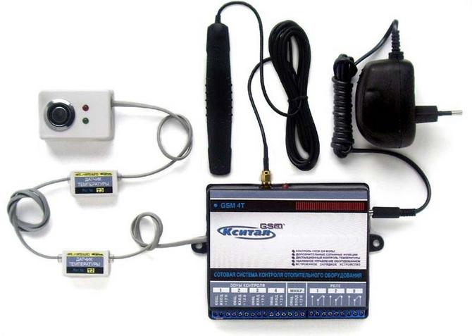 Сотовая система контроля системы отопления посредством СМС Кситал
