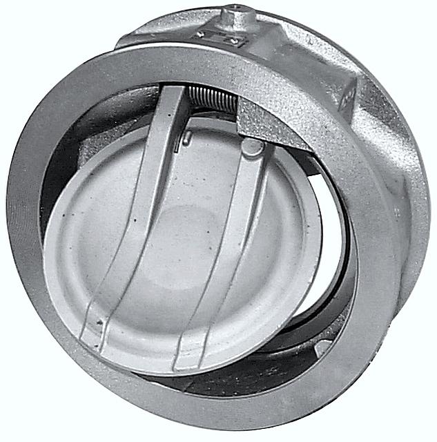 Пример обратного клапана межфланцевой установки.
