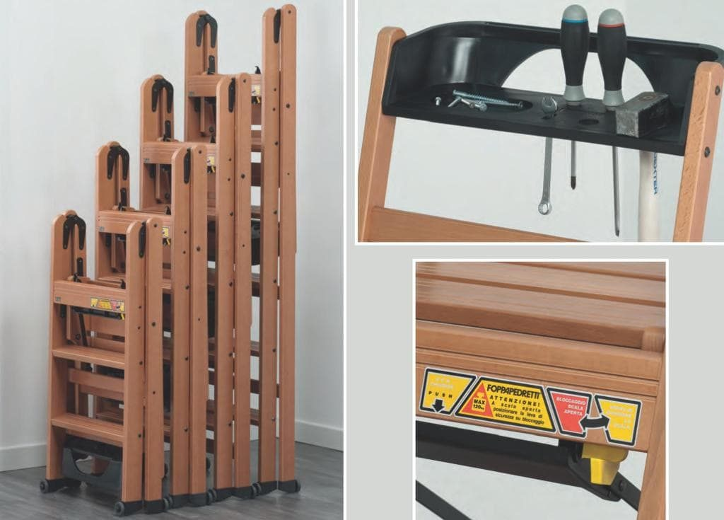 LaScala - деревянные стремянки-трансформеры