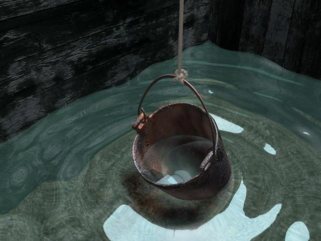 В колодце с таким дном вода чистая