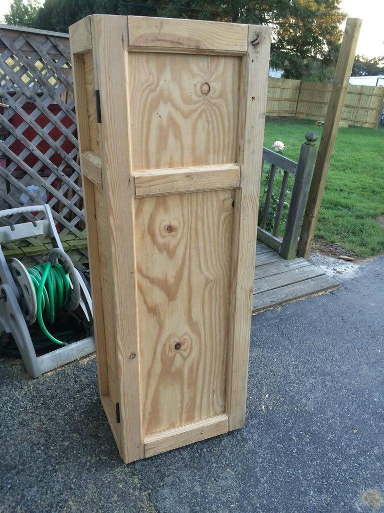 Готовый оружейный шкаф, сделанный своими руками