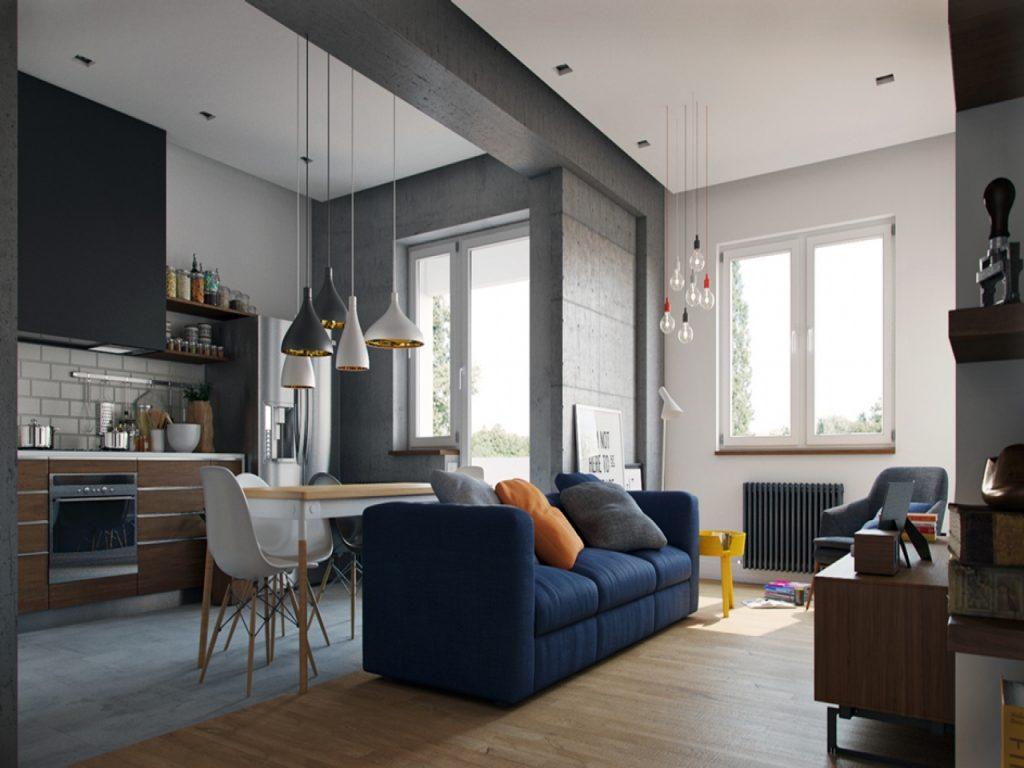 Дизайн квартиры-студии – это абсолютная свобода