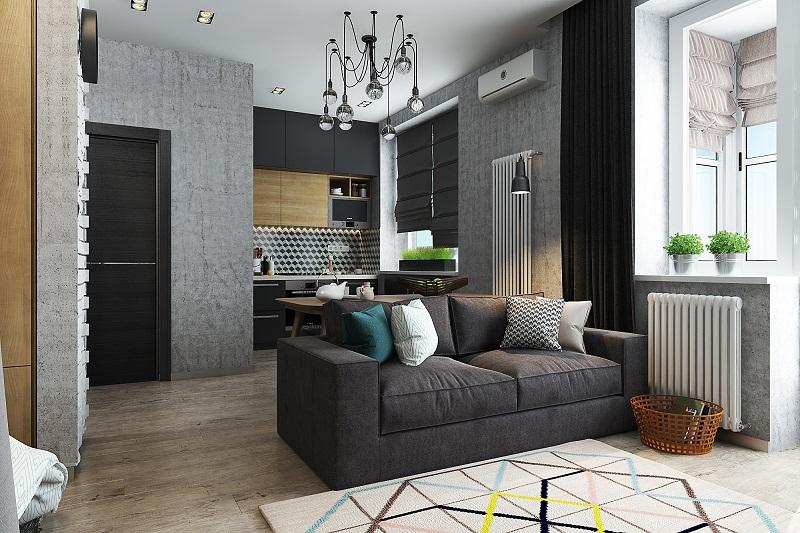 Наличие квартиры с одной комнатой дает возможность качественно обустроить каждый квадратный метр