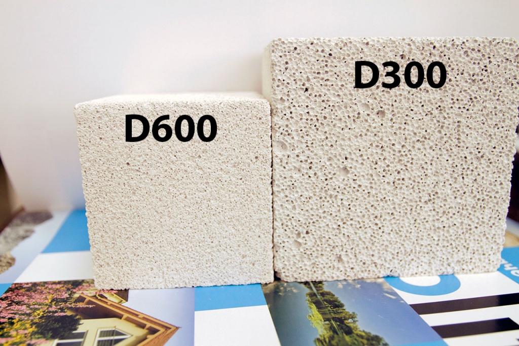 На фото видна разница между материалами с разной удельной плотностью