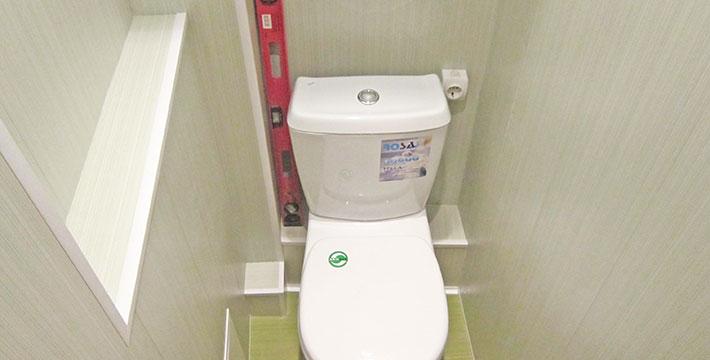 Ремонт туалета панелями
