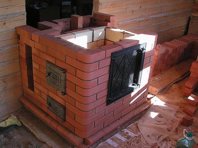 Строительство кирпичной печи в гараж