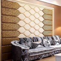 Мягкие стеновые панели — обзор и применение в интерьере