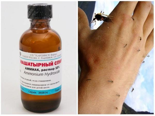 Если вы заметили укус комара, рекомендуется воспользоваться нашатырным спиртом, уксусом, содой и прочими средствами, которые легко можно найти, пожалуй, в каждом доме