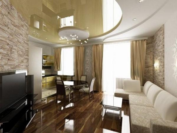 С нестандартными гостиными работать сложнее – важно правильно подобрать мебель