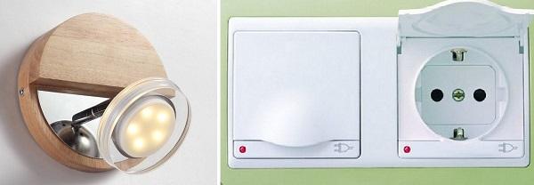 Пример влагозащищенных электроприборов