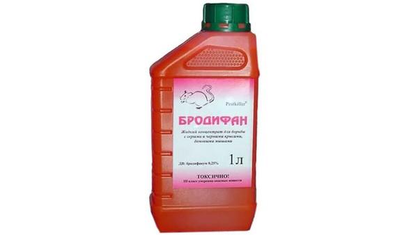 Средство «Бродифан» провоцирует смерть грызунов, которая наступает спустя 4-5 дней