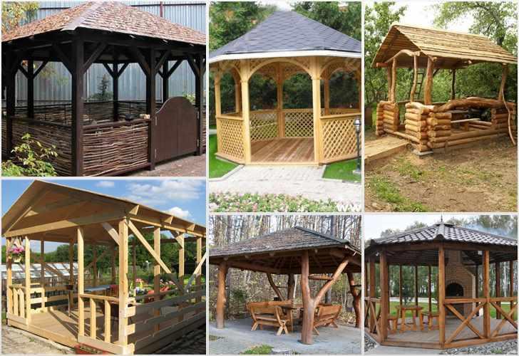 Красивые деревянные беседки для дачи: 70 идей и фото | 500x728