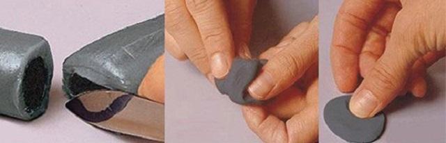 Процесс подготовки жесткого двухкомпонентного варианта «холодной сварки» к работе.