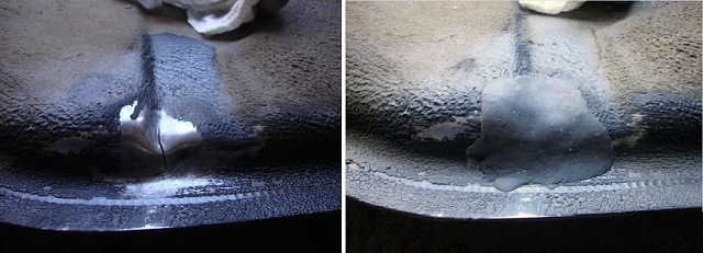Такие элементы автомобиля, как бензобак или выхлопную трубу, требующие срочного ремонта, можно хотя бы временно залатать «холодной сваркой» — до проведения полноценного ремонта или до замены на новые детали.