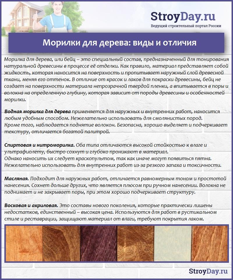 Морилки для дерева: виды и отличия