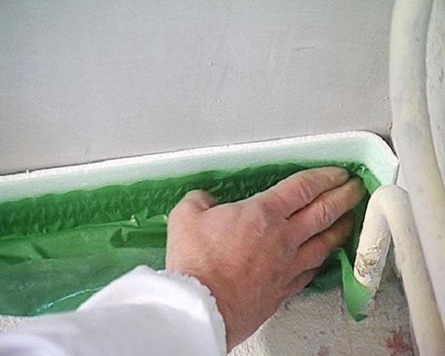 Начало фиксации ленты