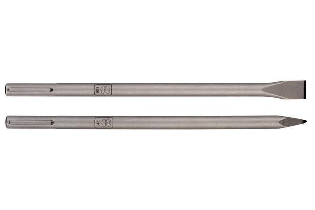 То же самое? Нет, это пики системы SDS Max: здесь и диаметр хвостовика побольше (в данном примере – 25 мм), и профиль фигурных пазов – иной.