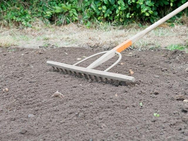 Разравнивание почвы под укладку рулонного газона