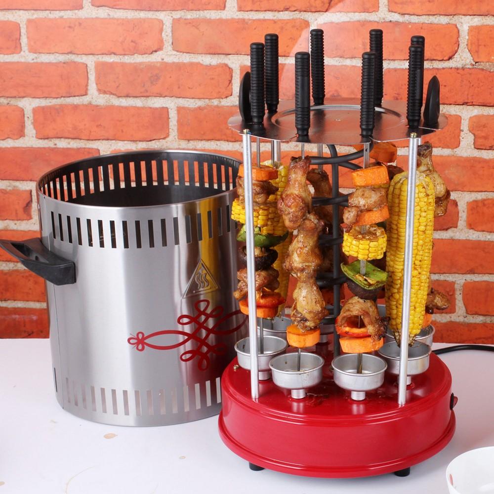 Электрошашлычница позволяет готовить шашлык в любое время года прямо в квартире