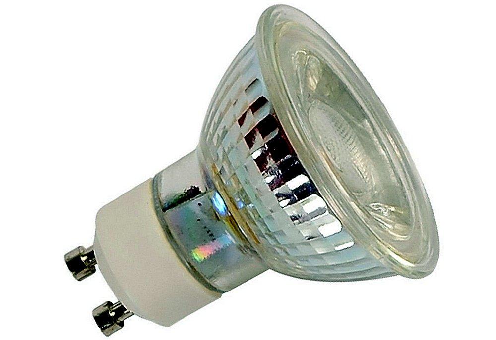 Один из примеров галогенных ламп – компактные размеры, яркое свечение, но, увы, очень сильный нагрев.