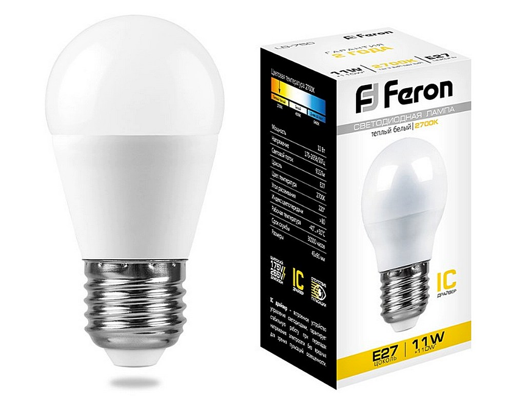 Светодиодная лампа бренда «FERON»