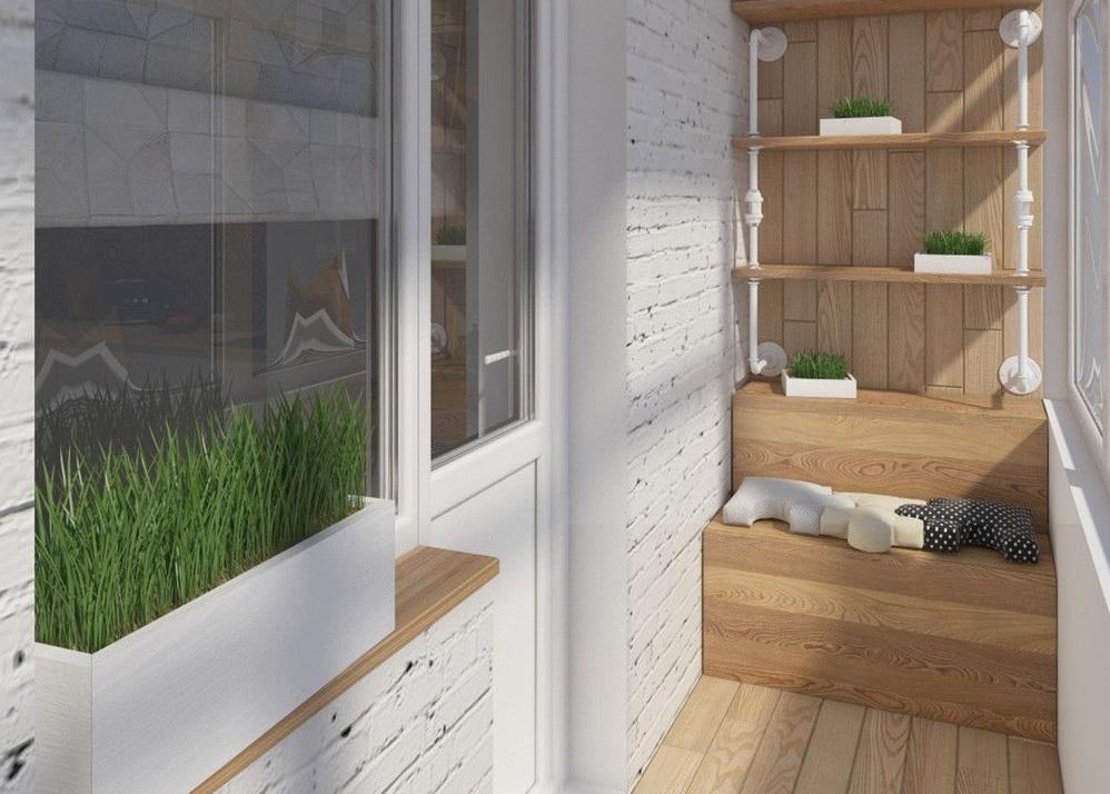 Сочетание кирпича и дерева создадут уютный лофт