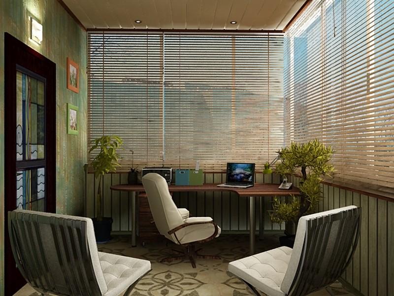 Строгий кабинет кажется уютным из-за мягкого рассеивания света