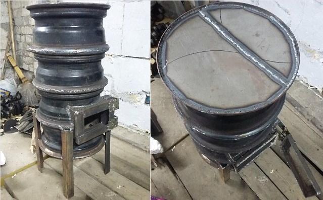 Буржуйка для гаража из старых дисков: делаем печь буржуйку своими руками4
