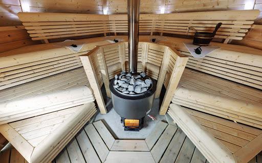 Дровяная финская печь для бани