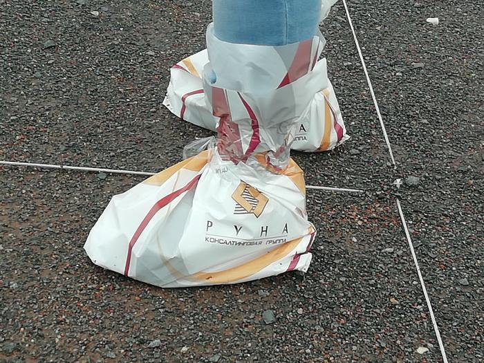 Пакеты ненадолго могут заменить резиновые сапоги