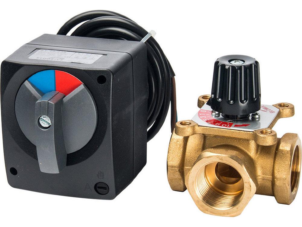 Простой трехходовой клапан с ручной предустановкой легко переделывается в «крутой» автоматический с электрическим сервоприводом