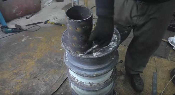 Буржуйка для гаража из старых дисков: делаем печь буржуйку своими руками40