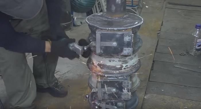 Буржуйка для гаража из старых дисков: делаем печь буржуйку своими руками43