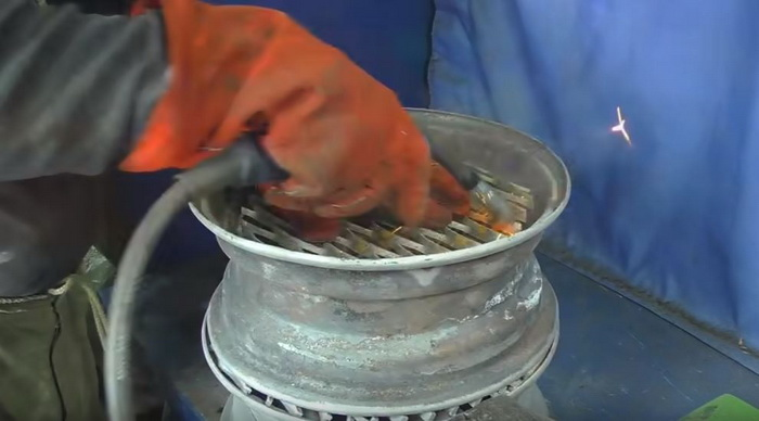 Буржуйка для гаража из старых дисков: делаем печь буржуйку своими руками13