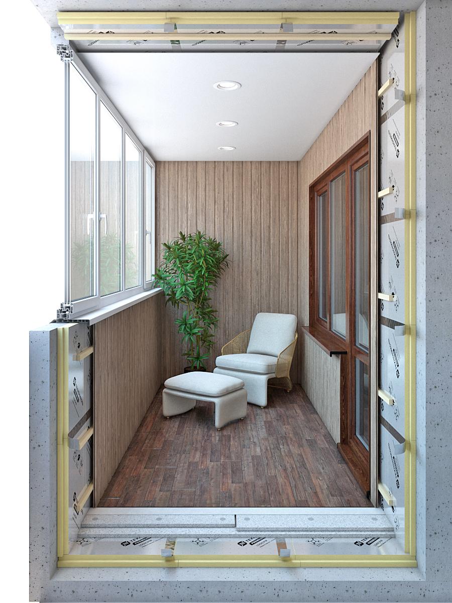 Вариант утепленного балкона