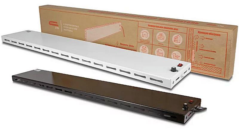 Модель теплого плинтуса СТН Р-1 практически одна – различия в управлении и цвете окраски корпуса.
