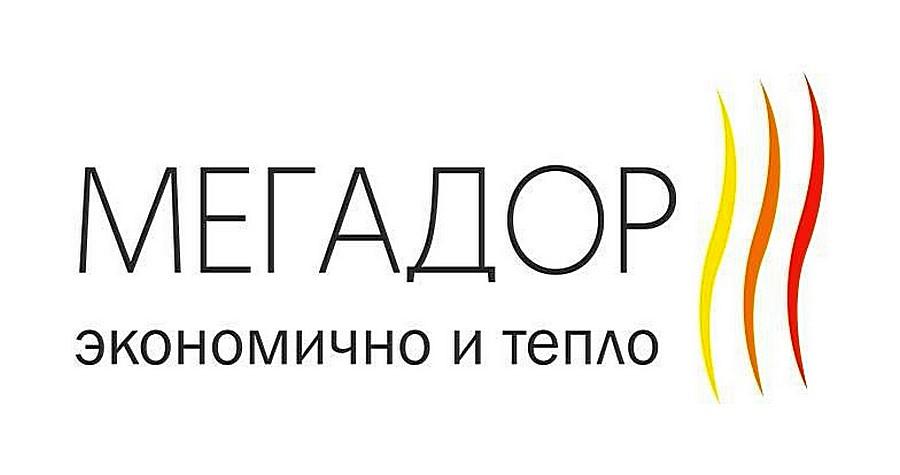 Логотип компании «НПК Мегадор», специализирующейся на производстве электрических тёплых плинтусов.