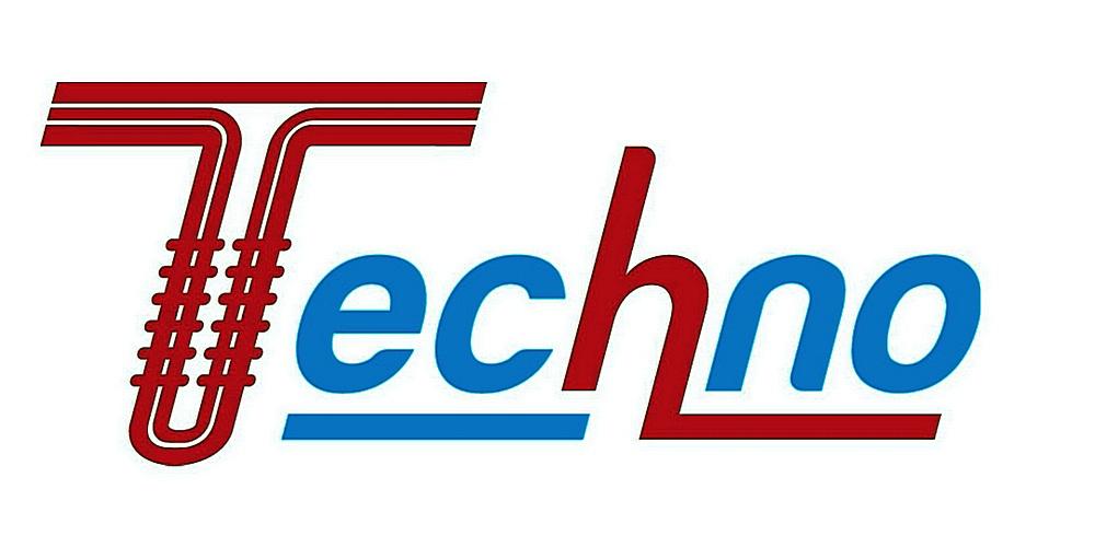 Красноречивый логотип компании «Techno» - со стилизованной под теплообменник заглавной буквой «Т».